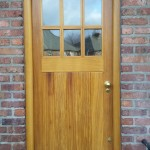 Traditional style door designed, created and installed for 1920's red brick terraced house in Crumlin.